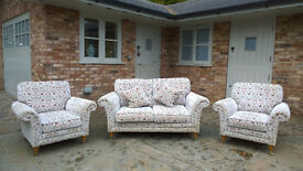 Parker Knoll Burghley 2 Seater Sofa & 2 Armchairs Current Cost New £3600+
