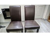 30 Used Leather Dining Chairs, Used, Various Conditions
