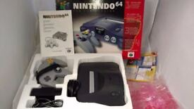 Nintendo 64 Launch Version Charcoal Grey Console N64 Boxed Complete New