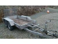 8x4 plant trailer twin axle