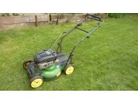 John deere 21' cut mulching mower with side deflecter as well expensive new