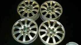 "Jaguar x type 16"" alloy wheels 5x108 ford mondeo focus volvo s type"