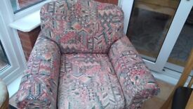 Free M and S two seater sofa and one chair