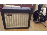 Classic 60s British Beat Music Burns Guitar Amplifier