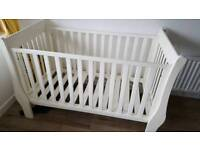 Little white company sleigh cot bed