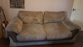 A 2 seater and a 3 seater sofa