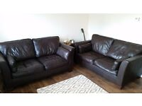 2 Italian leather sofa's in good condition