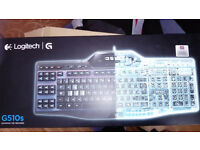 Logitech G510s Gaming Keyboard new never used with labels on