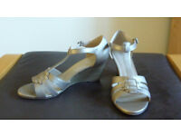 Metallic Gold colour M&S Footglove ladies sandals size 7
