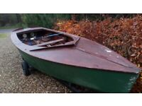 Wooden dinghy hull