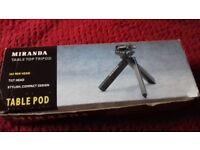 Miranda table top tripod camera stand with folding legs