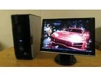 Fast SSD Dell XPS 430 Quad Core Gaming Desktop Computer PC With Samsung Sycmaster
