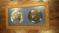 Antique Canadian Pacific Last Spike Centennial Plates #1&2