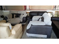 NEW Graded Large 2 seater sofa with cuddle chair and footstool FREE LOCAL DELIVERY