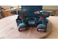 Bosch drill and driver with 2 5 amp batterys
