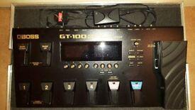 Boss G T 100 Multi Effects Guitar Pedal.