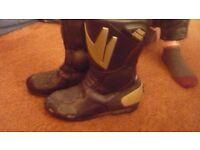 size 5 frank thomas motorcycle, motorbike boots