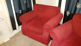 1 two seater and 1 one seater couches