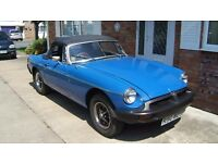 Good Condition MGB Roadster, 11 months MOT