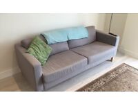 IKEA sofa - 1 year old! Modern sofa available. Grey and comfortable