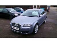 VERY CLEAN 2007 AUDI A3 LIMITED EDITION 1.6 HATCH 5 DOOR SILVER JAN 2018 MOT ONLY 54K F/S/H ALLOYS