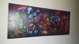 Super hero avenger canvas