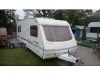 2004/5 swift conqueror 610 lux 4-5 birth luxury twin axle with motor movers and full size awning