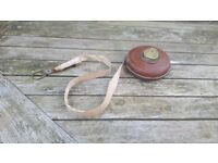 Vintage Retro Chesterman Tape Measure Measuring Tape Brown Leather and Brass