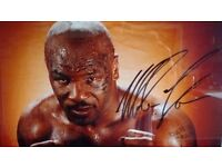 Mike Tyson signed picture