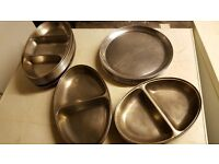Stainless steel serving dishes