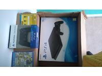 Brand new, sealed. Ps4 slim 500gb with extra controller and fifa 17