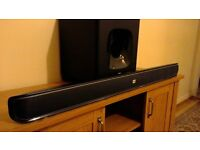 JBL sound bar & subwoofer