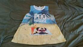 Kid girl river island pug dog top clothes