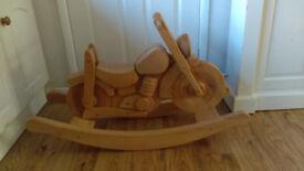 wood toy bike