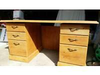 Office desk - light oak