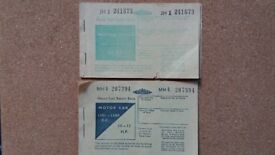 2 Full War Time Ration Books - Motor Car and Motor Cycle Fuel