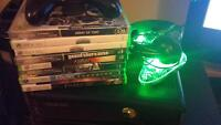 Xbox360 Slim + Games + Extra controller
