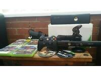 Xbox 360 s console, 1439, 250 GB with one controller, 6 cd games, kinect, all wires