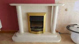 Marble Monumental Fireplace