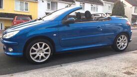2001 Peugeot 206cc 2.0 metallic blue £900 Ono