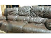 LUXURY Leather reclining 3 +2 seater sofa