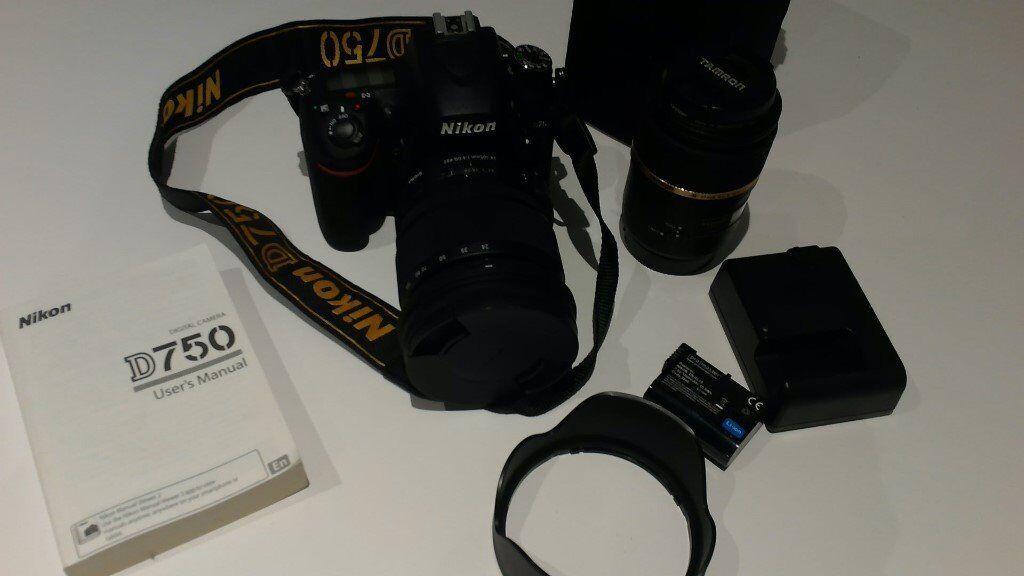 Nikon D750 DSLR camera with sigma 24-105mm lens and Tamron macro lens | in  Mildenhall, Suffolk | Gumtree