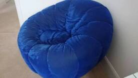 Blue comfy chair