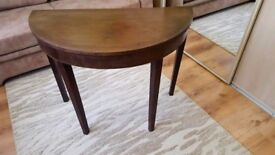 Vintage half moon table in need of TLC