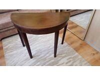 Vintage half moon table in need of TLC