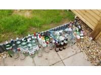 Arts & crafts empty bottles