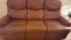 G Plan Leather Suite
