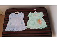 Two dresses blue and mint