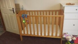 Baby cot and baby rocker