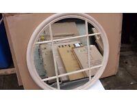 new boxed round mirror 1metre x 1 metre